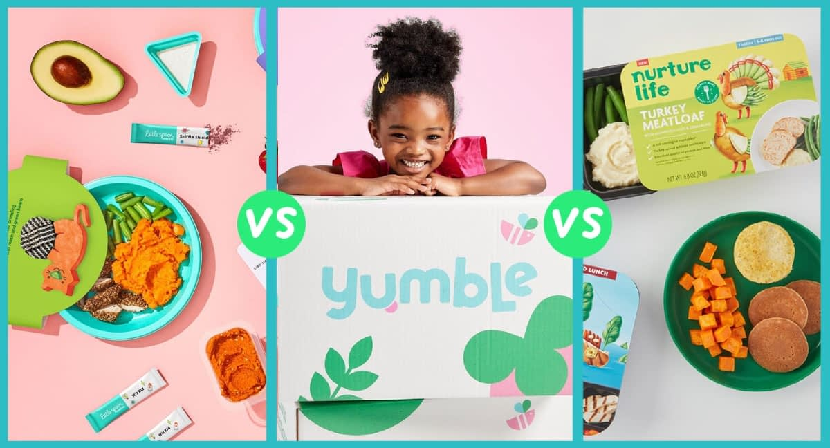 toddler kids meal delivery comparison on yumble, nurture life and little spoon