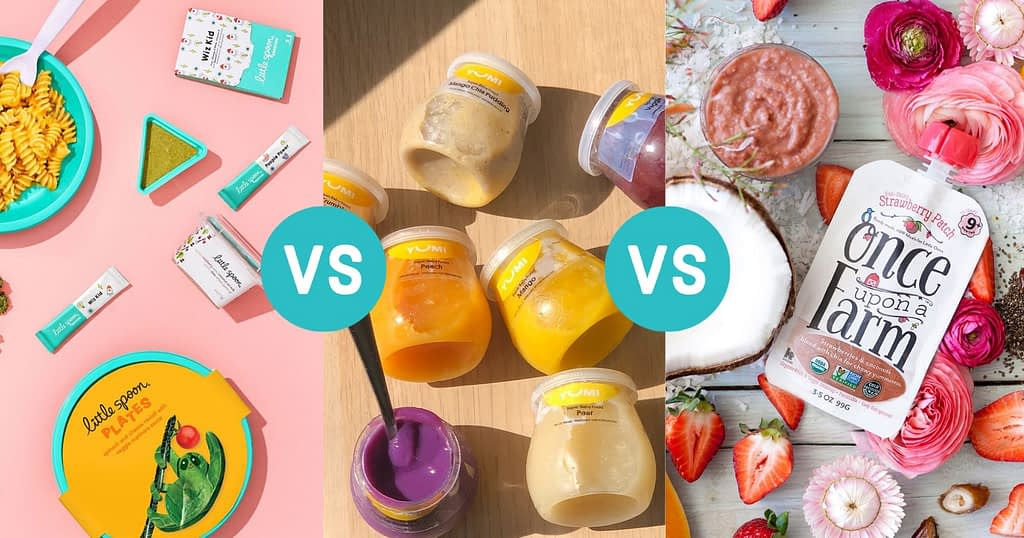 baby food delivery comparison yumi, little spoon and once upon a farm