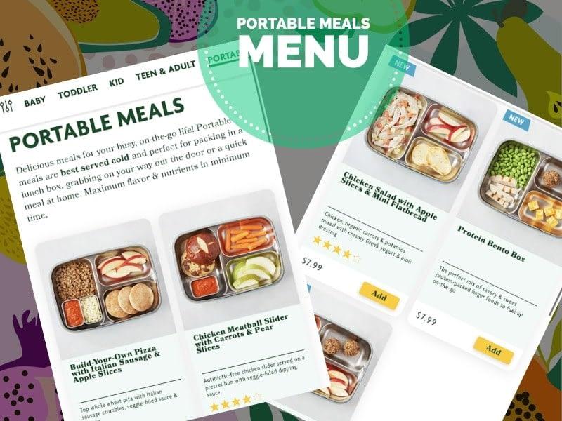 portable meals menu